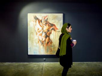 """Culture vultures: Tehran's galleries are very popular among Iranian young people and the cultural scene is constantly diversifying. According to a 25-year-old photographer, """"government restrictions play an important role in this phenomenon. Art is seen as a means of emancipation"""""""