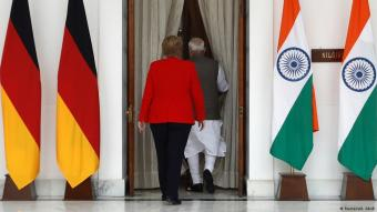 Angela Merkel on a state visit to India in 2019 (photo: Reuters/A. Abidi)